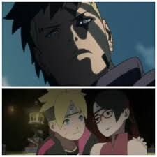 I remember fans theories Kawaki is Naruto and Sasuke's clone but what if  with all these aliens, strange Boruto's destiny, back in time is Kawaki  actually Boruto and Sarada's child from future?