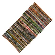 cotton chindi rug throw hand woven rag dari