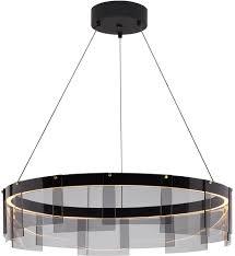tech stratos modern smoke black led drum ceiling light pendant tch stratos chan smoke