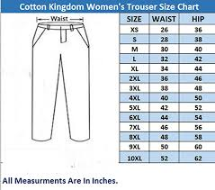 Cotton Kingdom Soft Cotton Womens Slim Fit Trouser Pant In