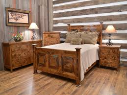 warm and stylish rustic wood bedroom sets