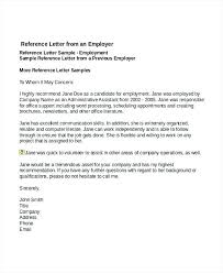 Job Reference Letter Example Arlingtonmovers Co