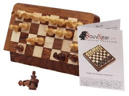 souvnear classic 18cm inch ultimate wood magnetic travel chess set with staunton