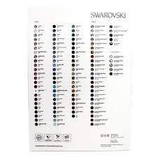 Swarovski Round Stones Colour Chart