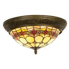 tiffany flush ceiling lights uk. atlantic tiffany flush ceiling light lights uk