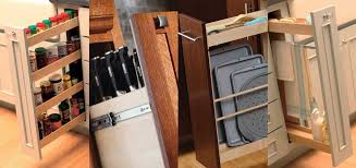 Cabinet Pull Out Storage Options By Dura Supreme Cabinetry Featuring A  Spice Rack Pull