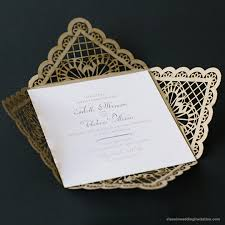 Baroque Wedding Invitations Baroque Lace Invitation Classic Wedding Invitations