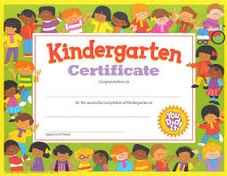 Printable Kindergarten Certificates Under Fontanacountryinn Com