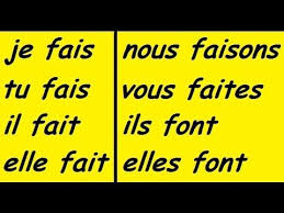French Verb Chart Faire Faire Conjugation Song French Conjugation Learn To Speak