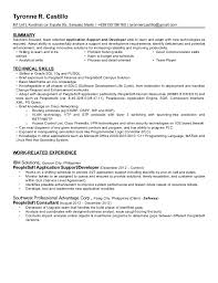People Soft Consultant Resume Mesmerizing Tyronne Castillo Resume MAY 48