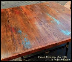 Barnwood Kitchen Table Hand Made Custom Reclaimed Oak Dining Table Industrial Table