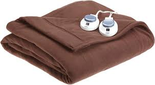 best electric blanket luxury fleece electric heated blanket with safe warm low voltage technology