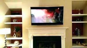wall mount above fireplace mounting installing tv on mantel figure 1 stone over ideas