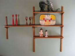 diy mid century modern wall mounted shelves