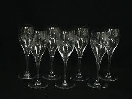set of 7 vintage baccarat crystal oenologie champagne glass 8 1 8
