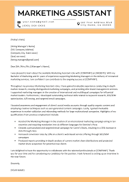 Marketing Assistant Cover Letter Sample Tips Resume Genius How To