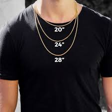 Tennis Chain Size Chart Gold Chain Length Guide