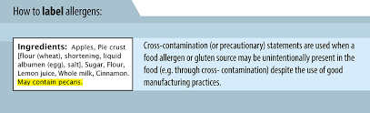 How To Label Allergens On Your Food Product Canadian Food