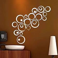 kuou <b>48 PCS</b> Acrylic <b>Mirror</b> Wall Sticker, DIY Fashion Circular 3D ...