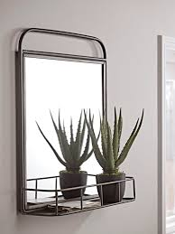 industrial shelf mirror