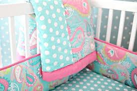 pink baby crib bedding paisley baby bedding paisley crib bedding aqua baby bedding aqua crib sheet