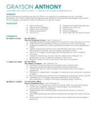 Resume For Security Guard Example Resume Sample Resume Security Guard Letter Of Reference For Job In 19