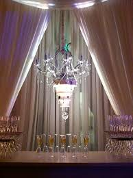 upside down wedding cake chandelier