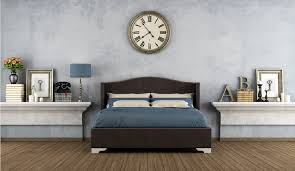 Wonderful Bedroom Bed And Wall Clock