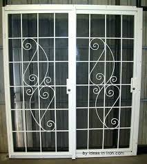 gatehouse 28 in to 48 aluminum sliding patio door security bar screen for glass doors doo