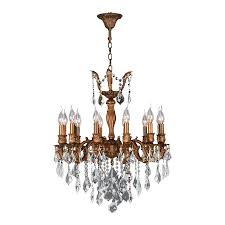worldwide lighting versailles 24 in 12 light french gold crystal candle chandelier