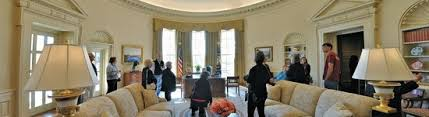 bush oval office. The George W. Bush Presidential Library And Museum: Panoramic View Of Replica Oval Office