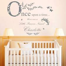once upon a time princess vinyl wall stickers home decor personalised princess name decal baby bedroom decoration wall art in wall stickers from home  on personal wall art baby name with once upon a time princess vinyl wall stickers home decor
