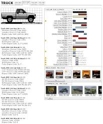Bmw Chassis Codes Chart Paint And Chassis Codes For 84 88 Toyota Trucks Toyota Minis