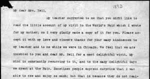 primary sources found poetry celebrate poetry month teaching letter from helen keller to mabel hubbard bell 20 1893