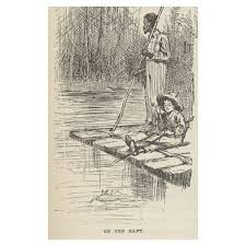 satire and irony in the adventures of huckleberry finn huck and jim on raft