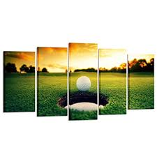 kreative arts golf course scenery canvas wall art contemporary sunset canvas prints framed poster prints on golf wall art near me with amazon kreative arts golf course scenery canvas wall art