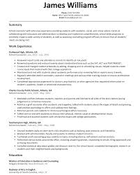 school counselor resume sample com