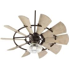 vibrant idea rustic ceiling fan exceptional hampton bay metro 54 in copper indooroutdoor within fans