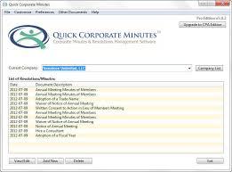 Quick Corporate Minutes