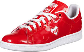 com adidas women s s stan smith w gymnastics shoes rosso ftwr white active red 5 uk fashion sneakers