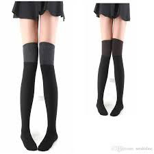 plus size thigh high socks 1 2017 spring plus size fashion knitted cotton women warm padded