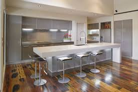 modern kitchen ideas 2015. Kitchen. Gray Cabinet On The Wall Combined With Long Kitchen Island White Modern Ideas 2015 S