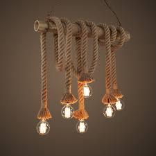 bamboo lighting fixtures. vintage handmade manila hemp rope with bamboo pendant lamps retro industrial edison cafe bar lighting fixtures i