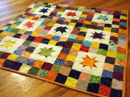 Twinkle Star Baby Quilt Vibrant Colors And Simple Shapes ... & twinkle star baby quilt Adamdwight.com