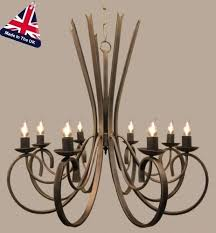 8 light chandelier tower style wrought iron 8 light chandelier made exclusive arturo 8 light rectangular