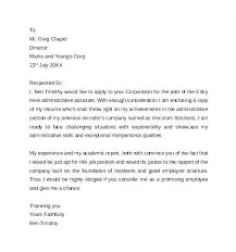 Entry Level Administrative Assistant Cover Letter Cover Letters
