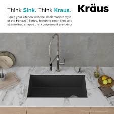 Kraus Forteza 32 Inch Uv Protected Deep Single Bowl Granite Kitchen