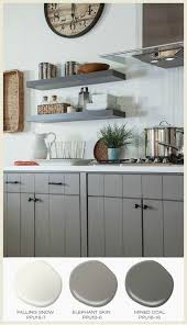 try a mid tone gray for an updated yet classic color choice for kitchen cabinets and