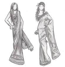 Fashion Dress Sketches Black And White Raveitsafe