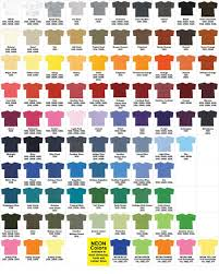 Fruit Of The Loom Color Chart 2017 Gildan Color Chart Sd Prints